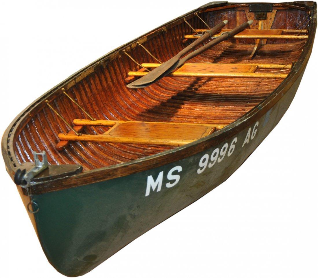 "12' Wood and Canvas Boat.  Penn Yan ""Car Topper"""