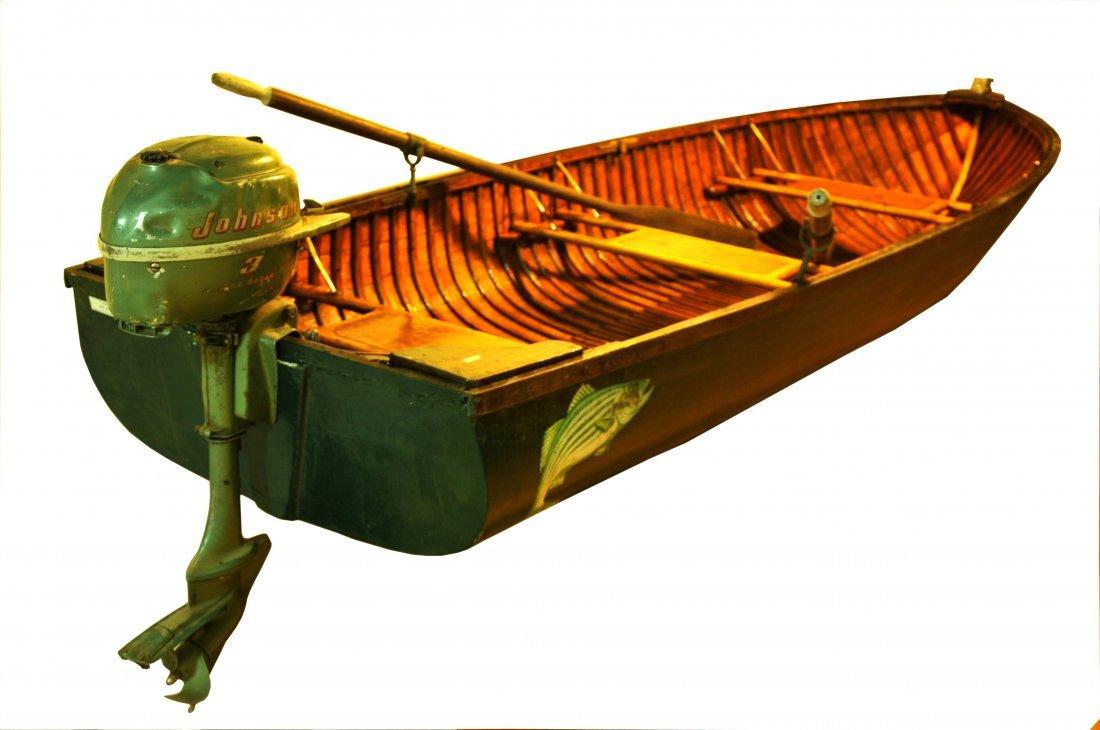 "12' Wood and Canvas Boat.  Penn Yan ""Car Topper"" - 3"