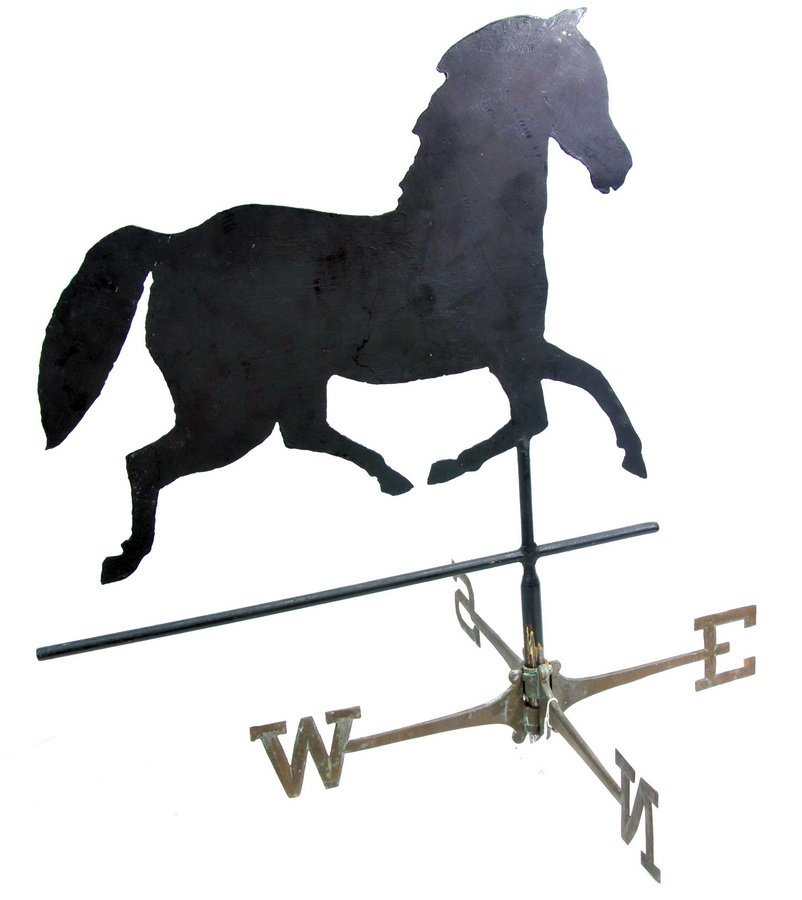 """Horse Weathervane with directionals 30"""" tall"""