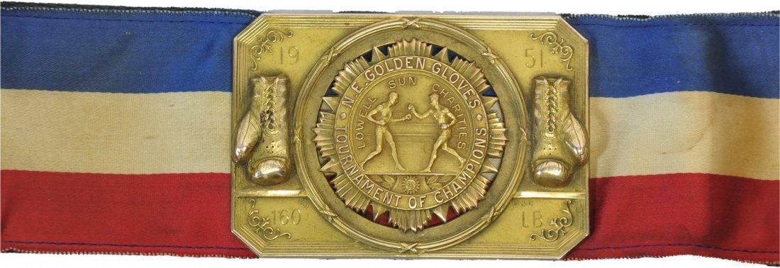 1951 New England Gold Gloves Championship Belt