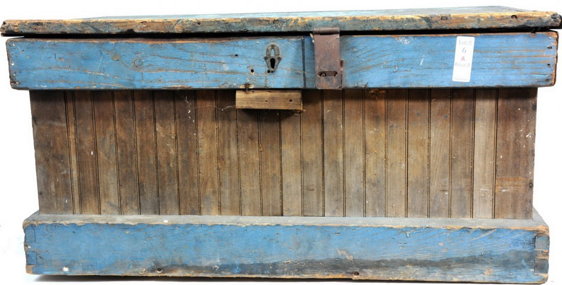 Wooden Tool Box in Old Paint 34x18