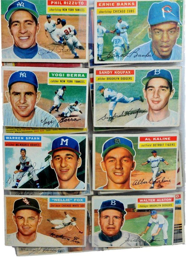 1956 Topps Baseball with Koufax, Berra