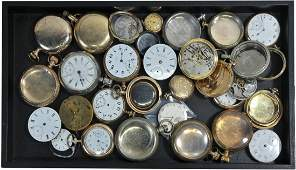 Pocket Watch Lot including cases