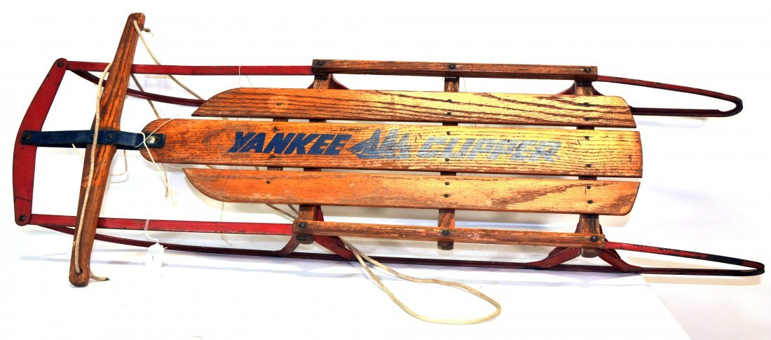 Yankee Clipper Sled signed by Joe Dimaggio