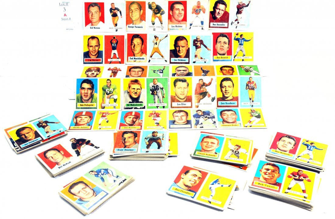 Estate Collection of 178 1957 Topps Football