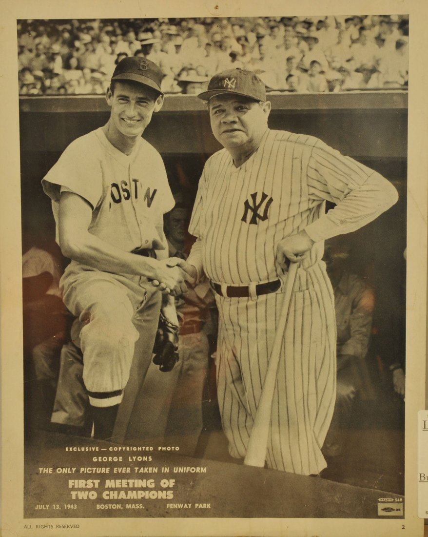 Unusual Poster of Babe Ruth/Ted Williams