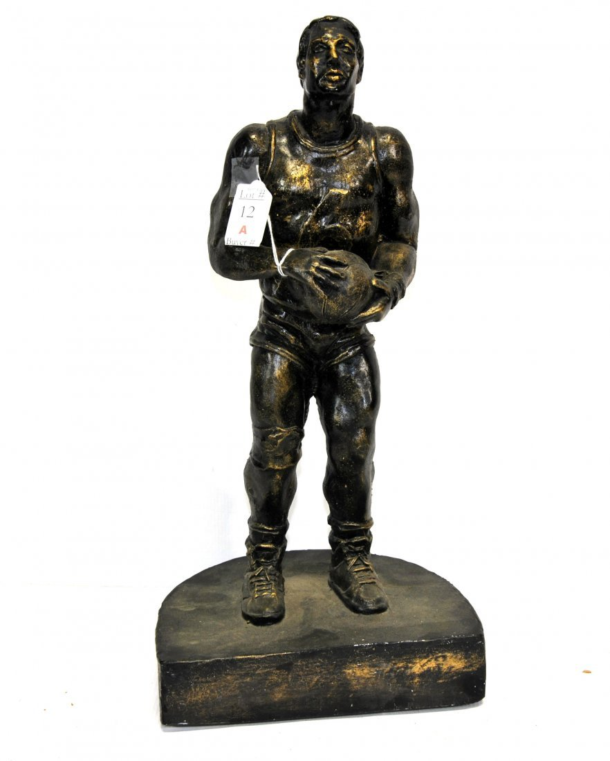 18 Inch metal statue of Basketball player