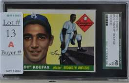 1955 Topps Sandy Koufax Rookie Graded