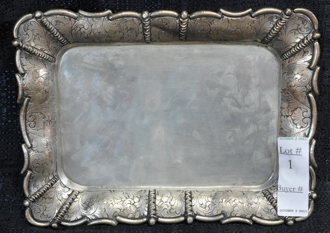 800 Silver tray 9.95 Troy Ounces