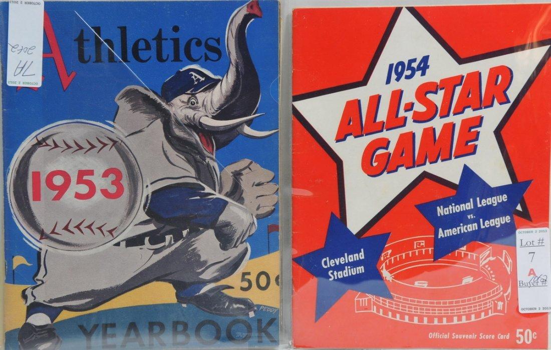1954 All-Star Game Program/1953 Athletics Program