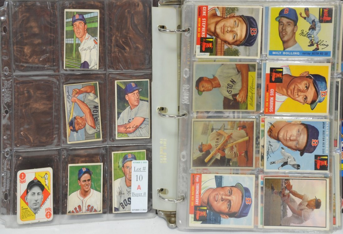 221 1950's/60's/70's Red Sox cards