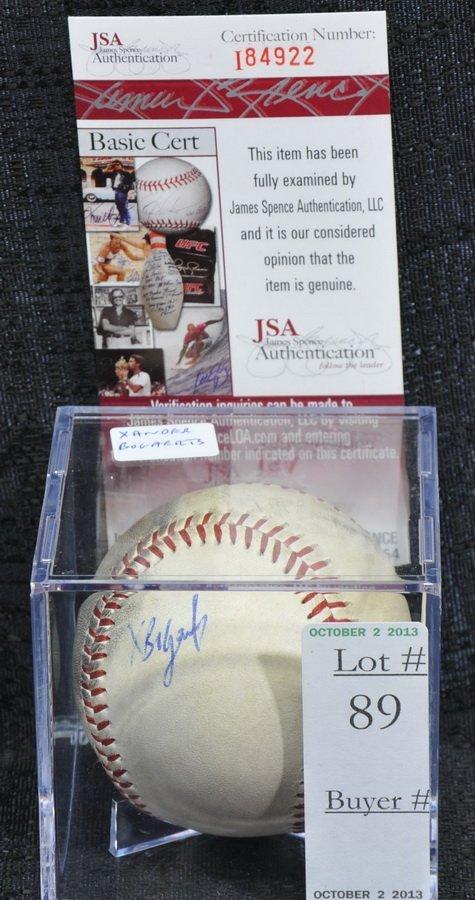 Xander Bogaerts signed baseball with JSA COA