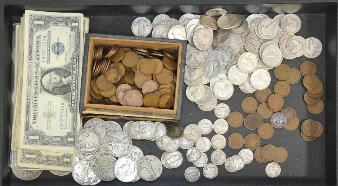 Collection of Coins and Currency