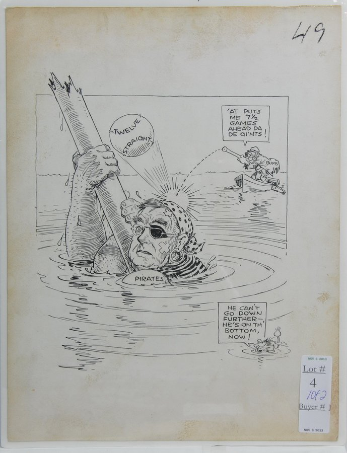 Two Original pen and Ink 1950's