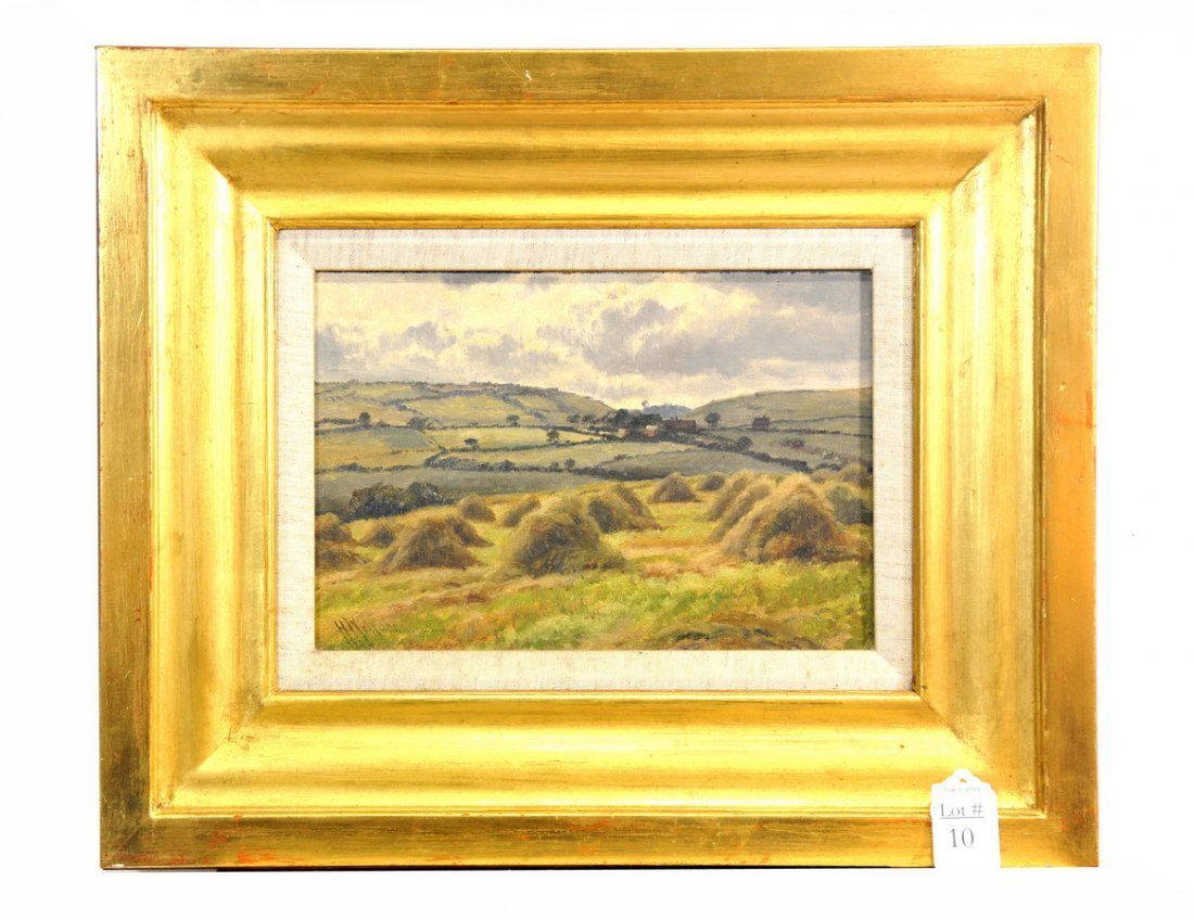 Oil On Board landscape signed H.Wallace
