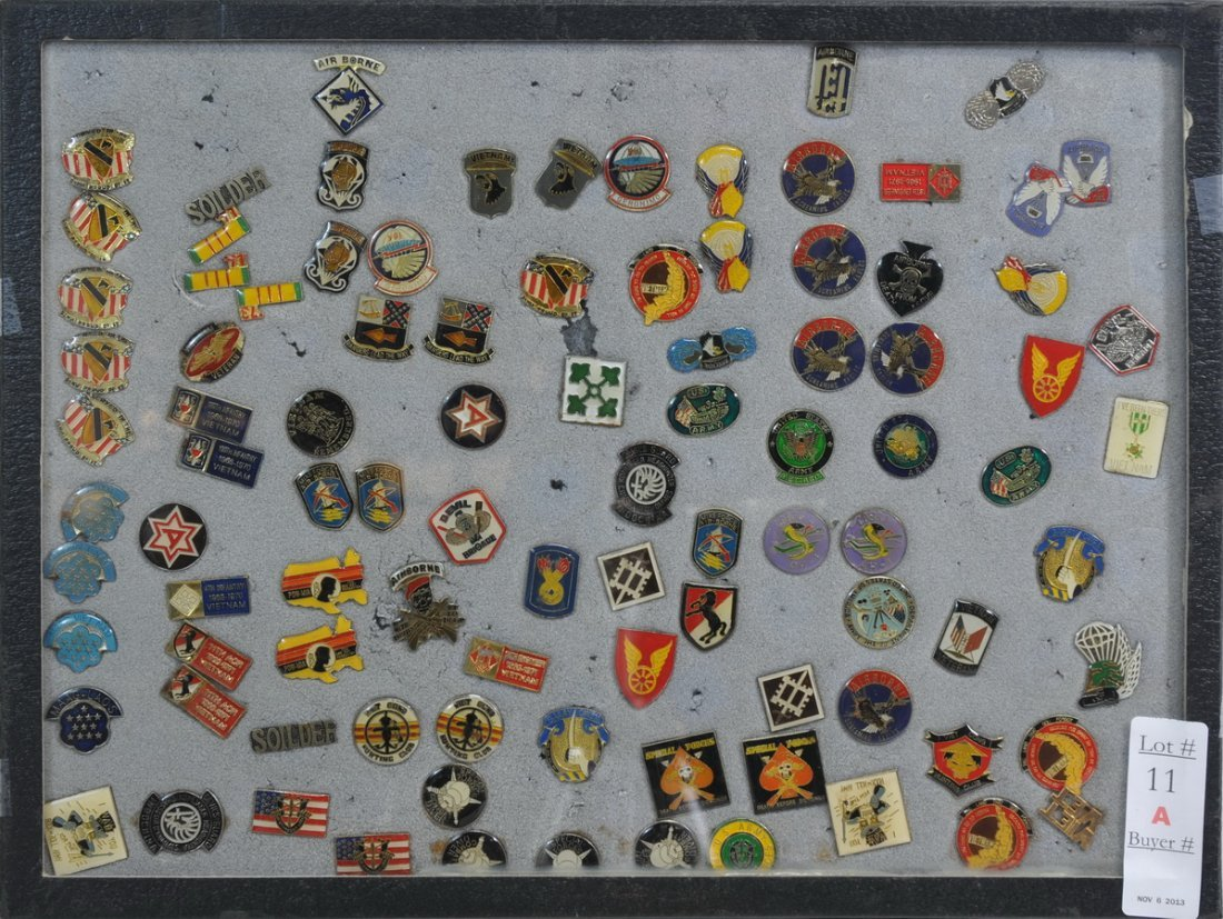 Collection of over 75 Armed Forces Pins