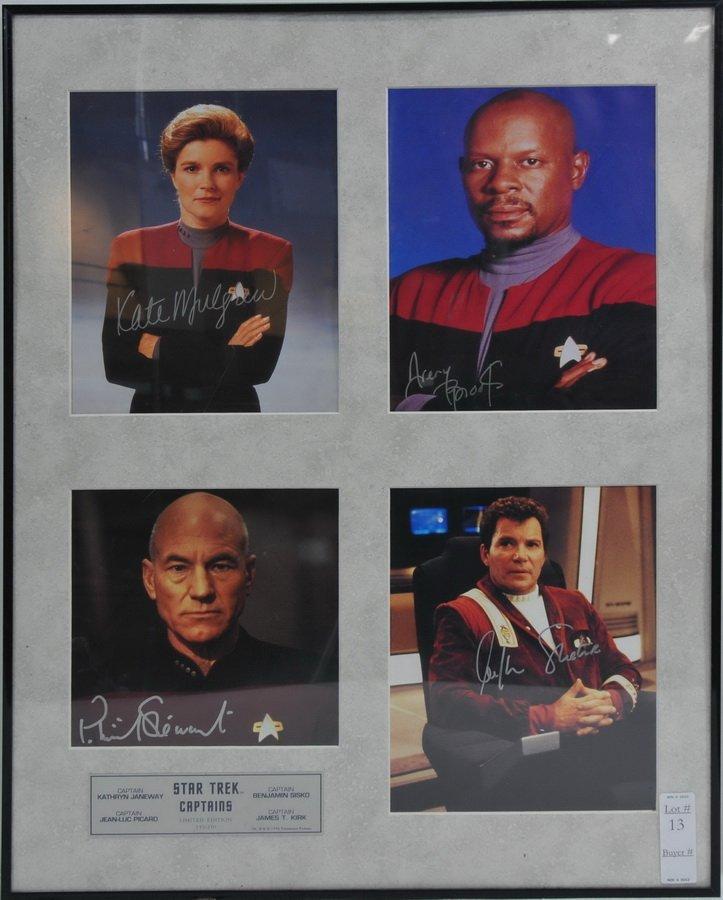 Autographed Star Trek Piece