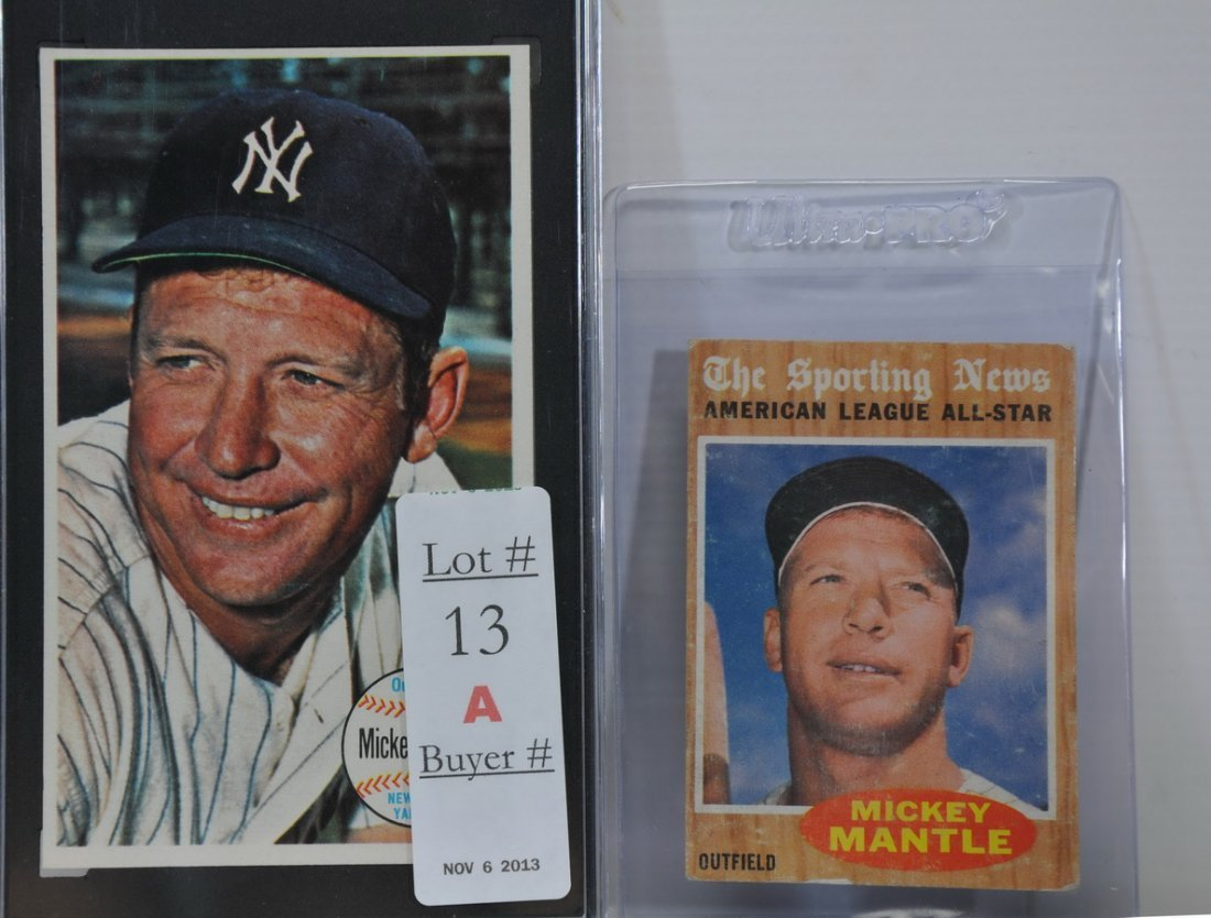 Two Mickey Mantle cards 1964 Graded and 1962