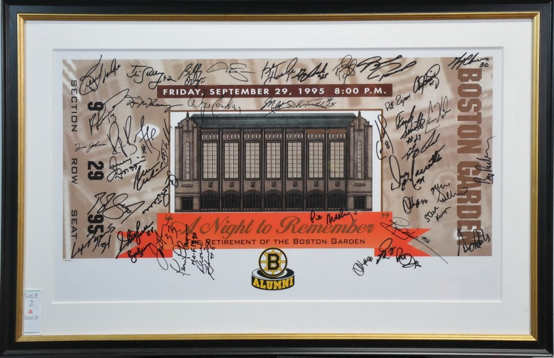 The Retirement of the Boston Garden signed piece