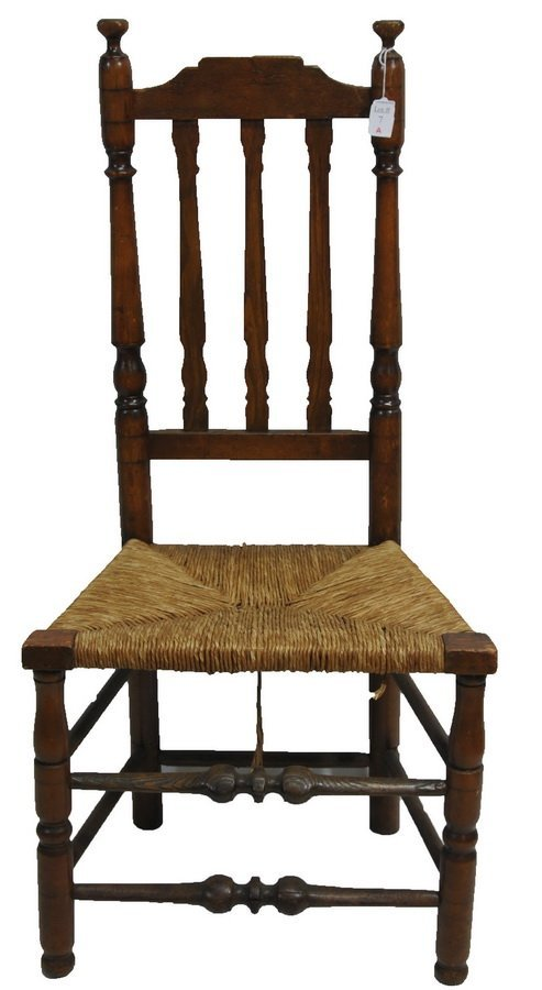 18th century banister back chair
