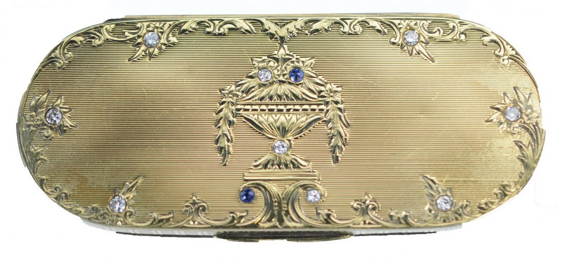 Antique Gold Snuff Trinket Box
