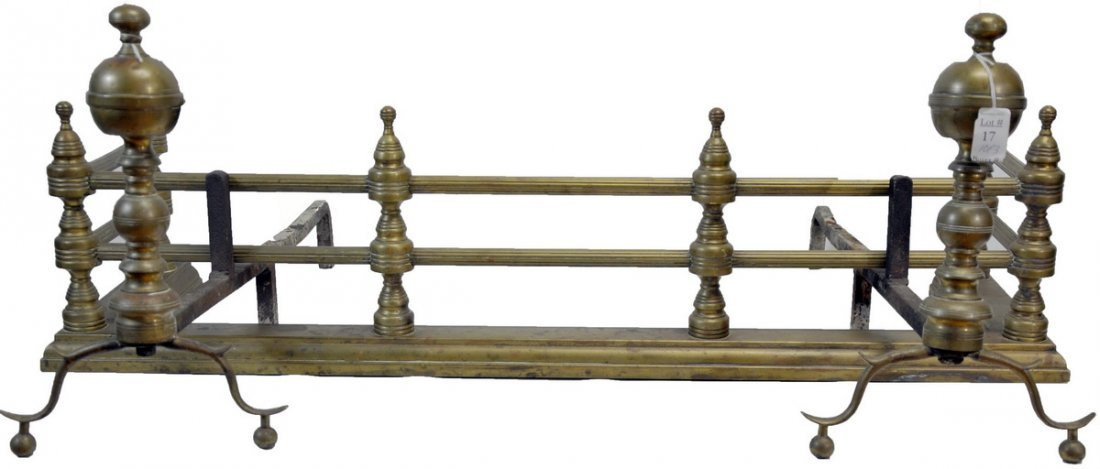 Brass and Iron Fireplace Fender