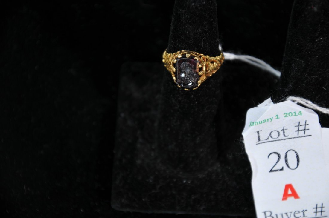 18k gold Cameo ring