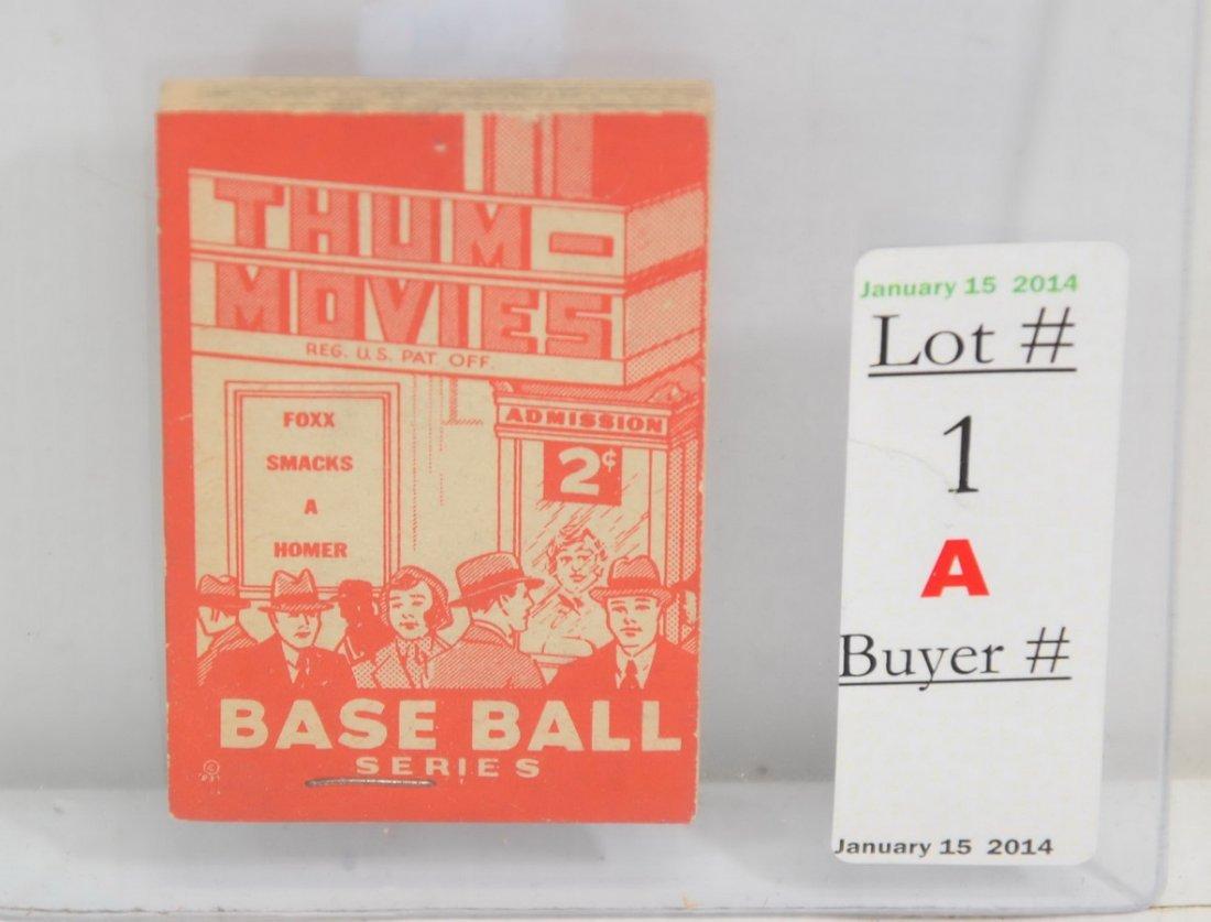 1938 Goudey Thum Movie Jimmie Foxx