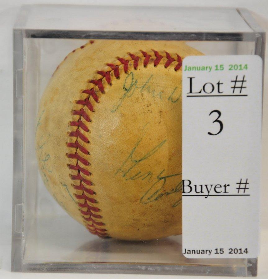1950's Mixed Signed Baseball