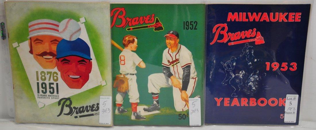 3 1950's Braves Year Books