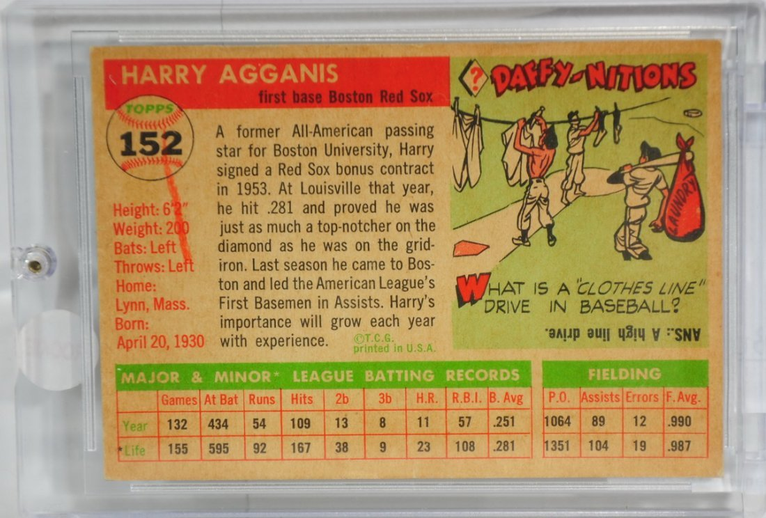 1955 Harry Agganis Rookie Card