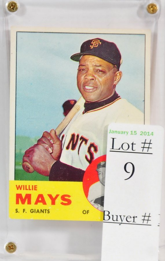 1963 Topps Willie Mays