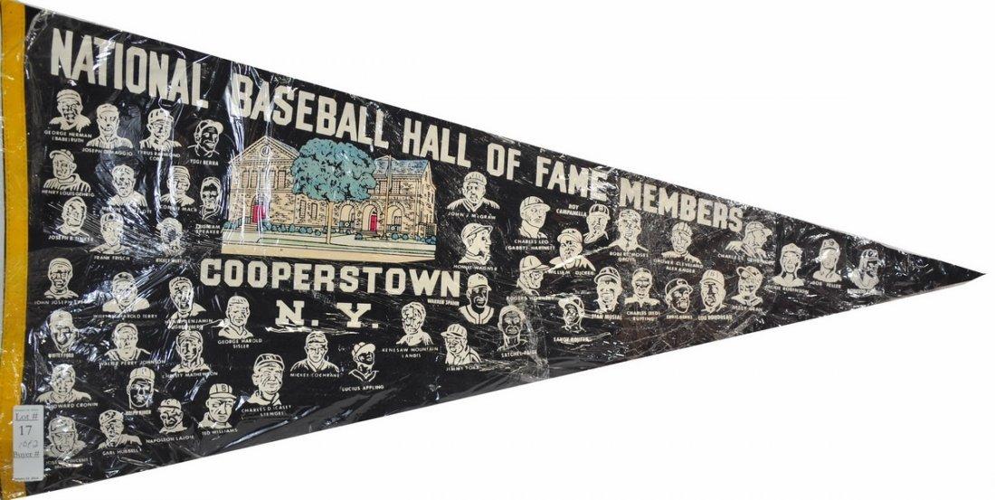 Pair of Vintage MLB Hall Of Fame Pennants