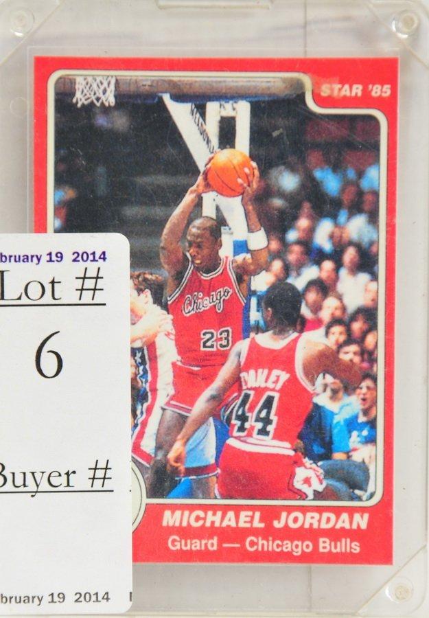 1984-85 Star Michael Jordan Rookie Card