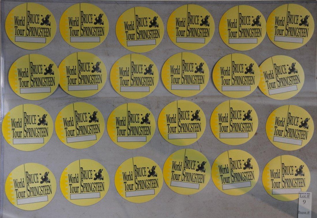 Display of Vintage Rock N' Roll Backstage passes