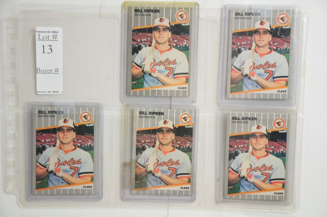 Billy Ripken Error Card with 4 Corrected cards