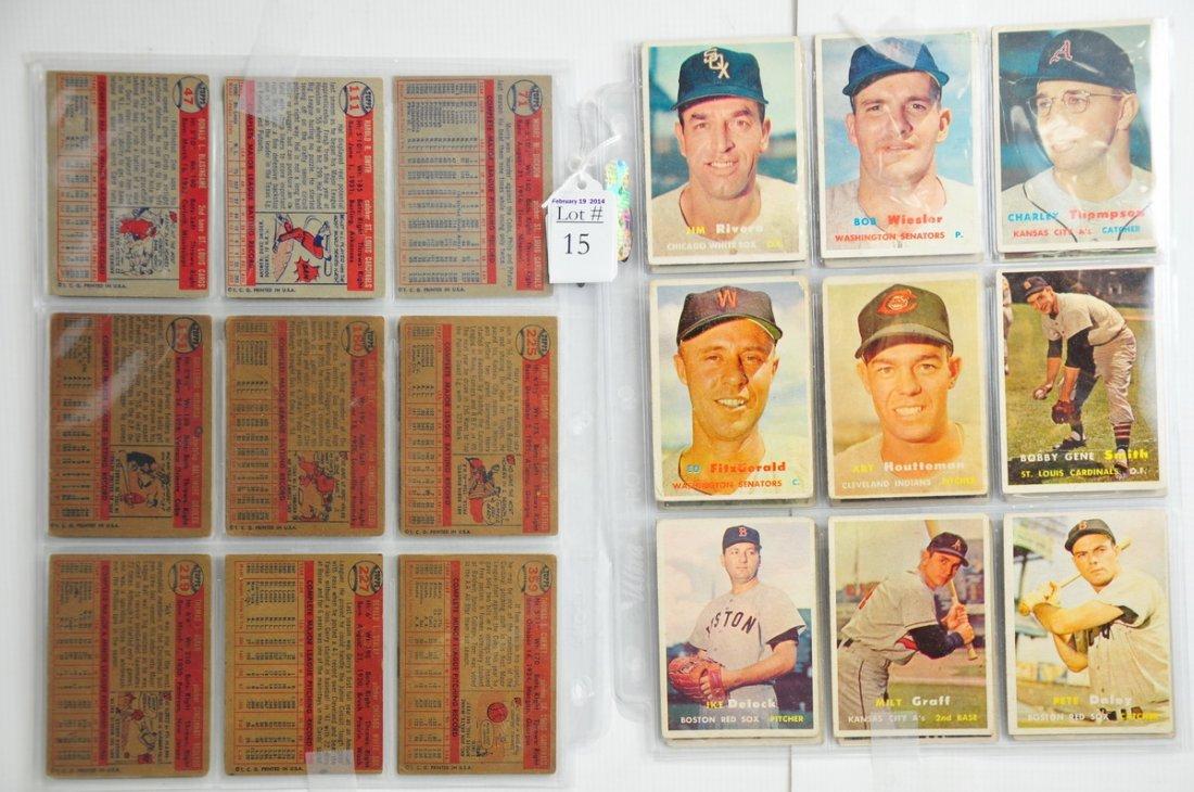 35 1957 Topps baseball cards