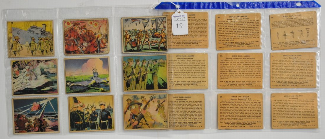 18 1941 Uncle Sam Cards