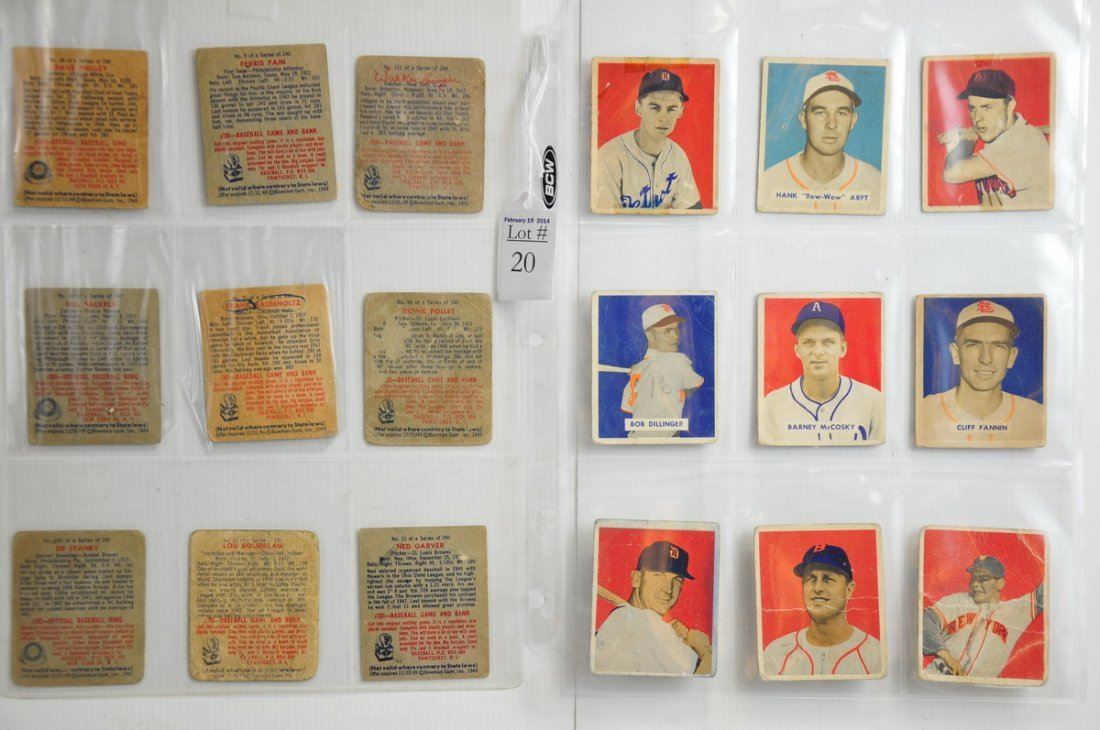 18 1941 Bowman baseball cards