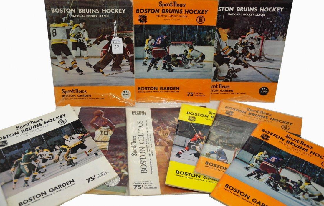 Collection of 9 1970-72 Boston Bruins/Celtics