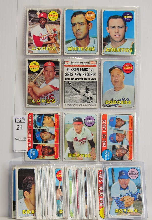 71 1969 Baseball cards with stars