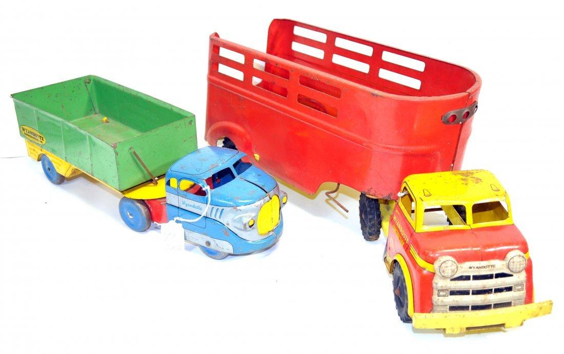 Two Piece Wyandotte Tin Litho trucks