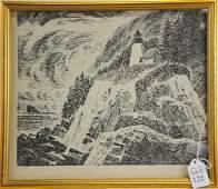 Carroll Thayer Berry Wood Block Engraving