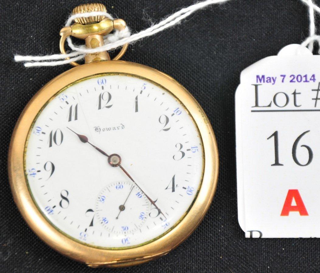 17 Jewel Howard Pocket Watch GF Case