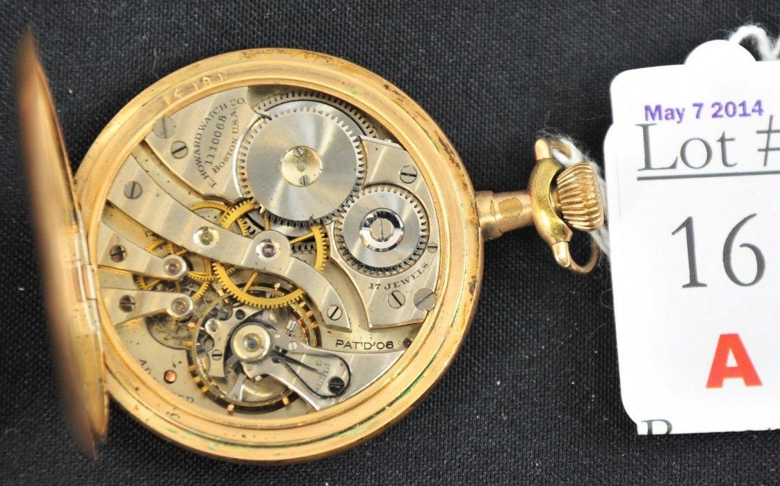 17 Jewel Howard Pocket Watch GF Case - 2