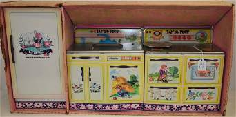 Vintage Wolverine Lil Bo Peep Tin Toy Kitchen Set