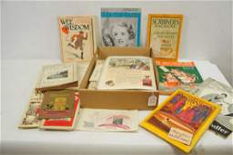 Mixed Late 19th C and Early 20th C Ephemera Lot