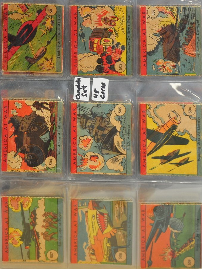 Complete Set of 1942 America At War Cards