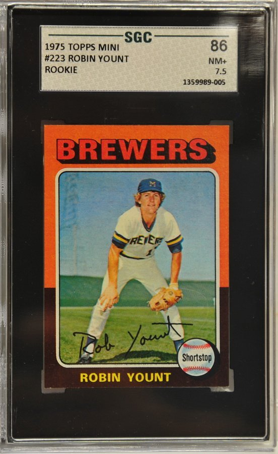 1975 Topps Robin Yount RC SGC Graded 7.5