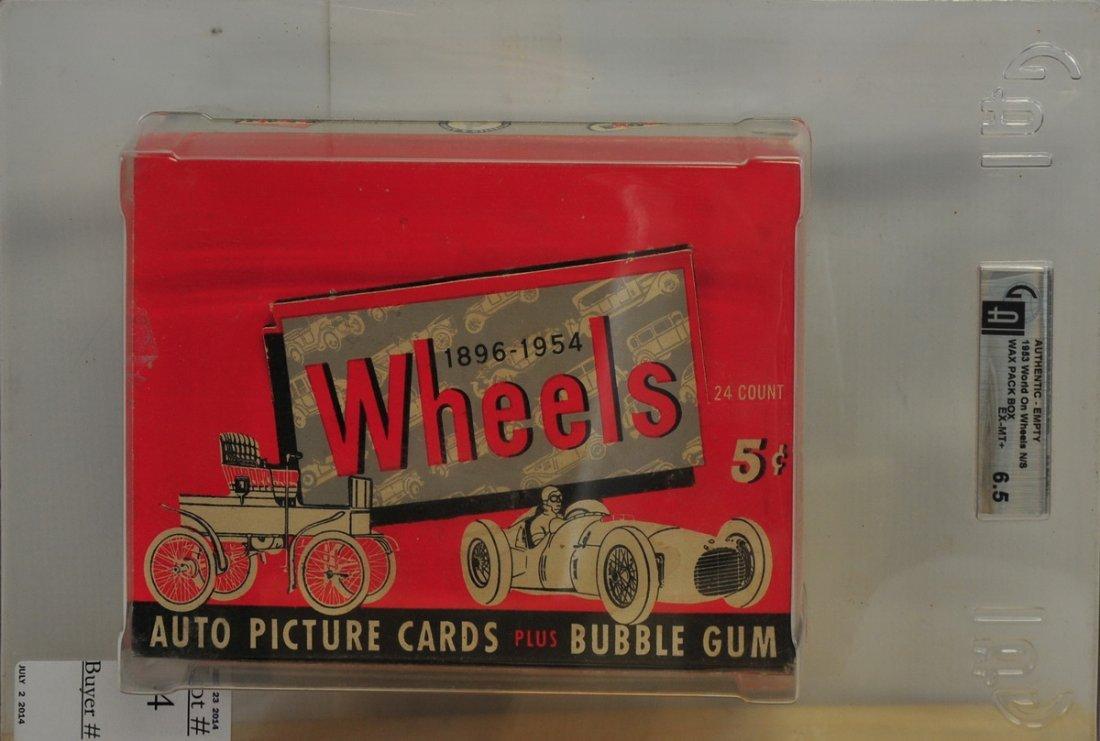 1953 World on Wheels Graded Empty Box